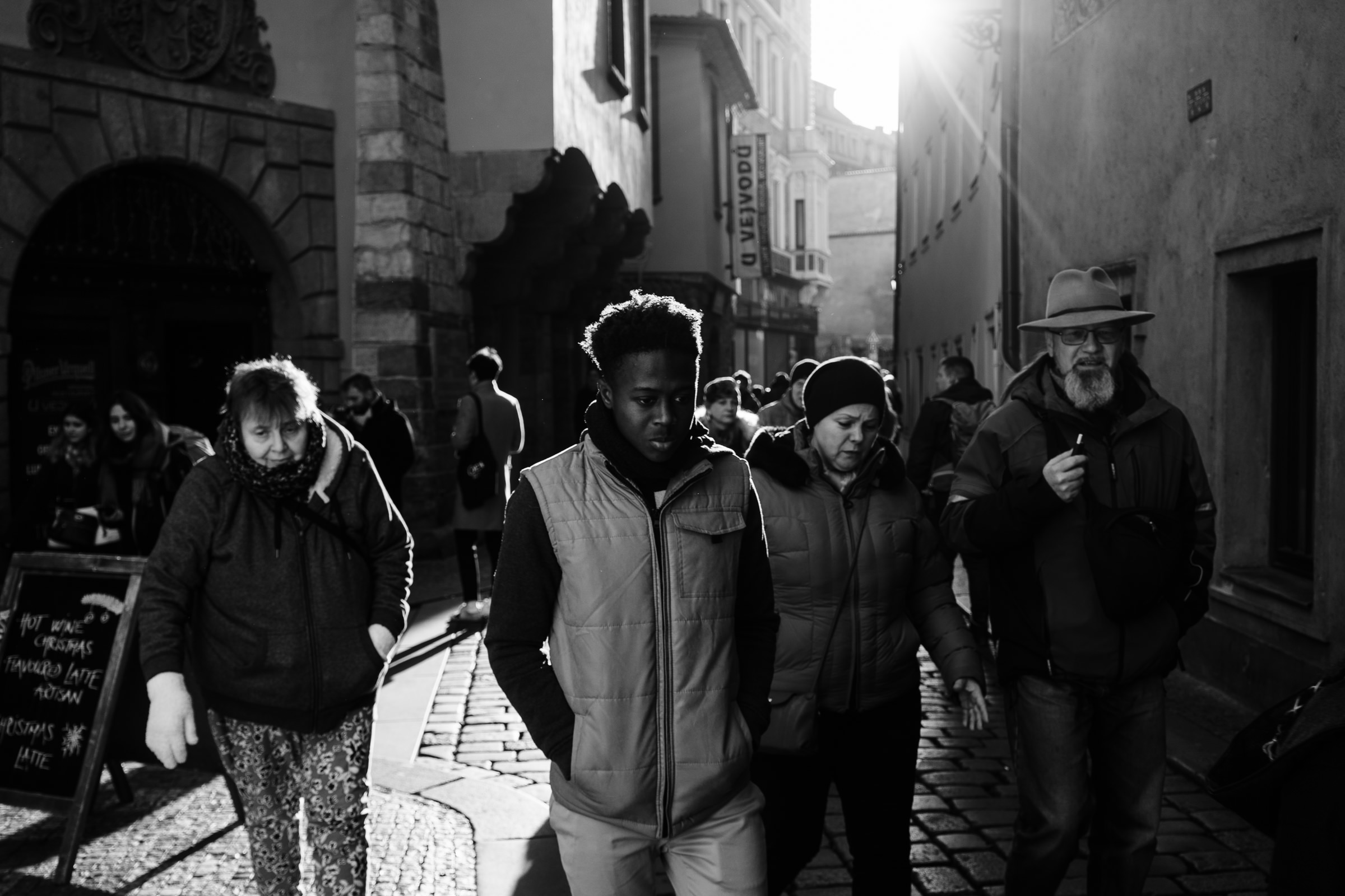People walking in Prague and i make this photographs